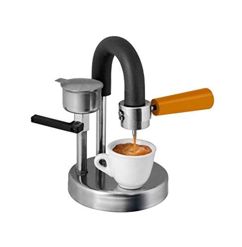Kaffeemaschine Kamira farbversion orange, der cremige Espresso, auf den Herd gestellt. Mache ein schmackhaftes Geschenk! Schenke Kamira! (1-2 TASSEN - Freie unauslöschliche Textnachricht) (1 Tasse Maker)