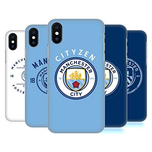 Head Case Designs Officiel Manchester City Man City FC 2018/19 Badge Étui Coque D'Arrière Rigide pour Apple iPhone Téléphones