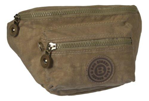 Bauchtasche Gürteltasche Hüfttasche 2438 (Schwarz) Graubeige