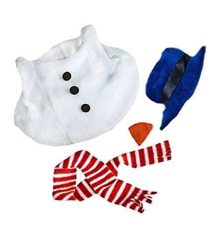 Stuffems Toy Shop Bonhomme de Neige w / Chapeau, écharpe et Nez en Peluche Vêtements Ours Adaptable 8 « -10 » Build-a-Bear Amis et Faire Vos Propres Animaux en Peluche