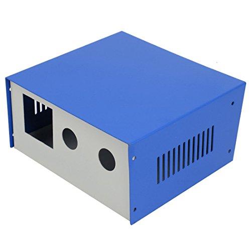 sourcing map 175mm x 163mm x 85mm Boîtier raccordement Projet électronique boîte Bleu