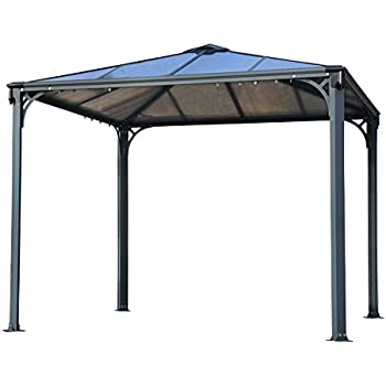 Palram aluminium gazebo pavillon palermo for Gazebo 4x3 amazon