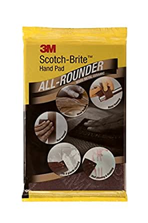 3M IE110101425 Scotch Brite All Rounder Hand Pad, 9 inch x 6 inch, Pack of 5