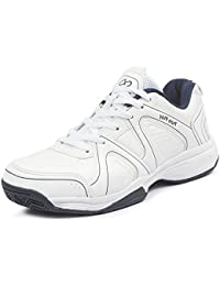 Pure Play Men's Smash White Navy Sports Shoes