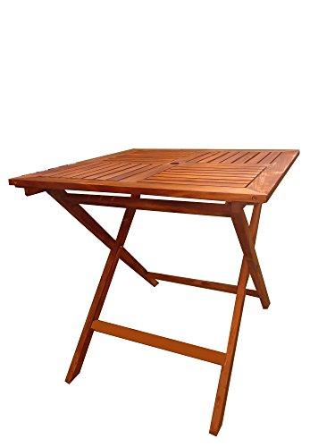 PJ Table Portable Pliante en Bois, Table Pliante (80x80 cm, Clair)