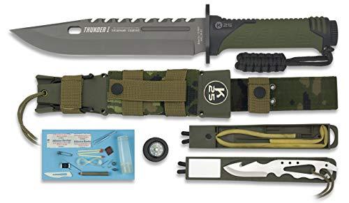 K25-32019 - K25- Cuchillo Thunder I. Camo ESP. h: 20 - Herramienta para Caza, Pesca, Camping, Outdoor, Supervivencia y Bushcraft