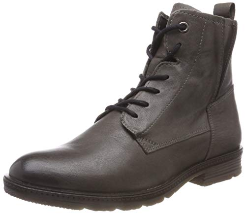camel active Aged 70, Damen Biker Boots, Grau (Grey 4), 37 EU (4 UK)