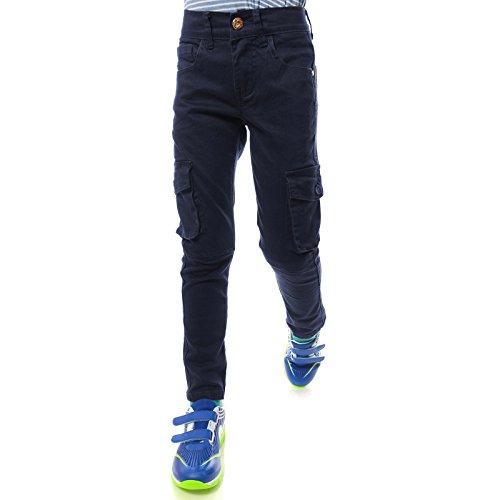 GP Creation Coole Jeans Hose Jungen Kinder Riss Röhre-Jeans Strech-Jeans 21753, Farbe:Blau, Größe:140
