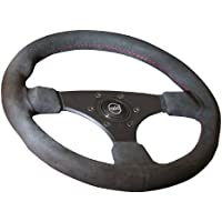 Raid 44320 13 hp Sport Sports Steering Wheel 320 mm Black with Black Spokes and Perforated Grip Area with ABE T/ÜV-Approved