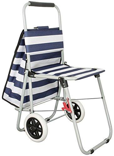 Einkaufstrolley mit Sitz Nordsee Einkaufswagen Treppensteiger Shopper