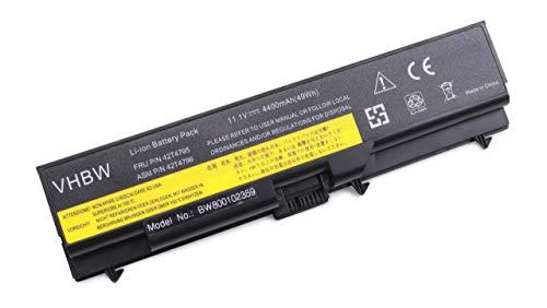 vhbw Batterie Li-ION 4400mAh 11.1V Noire pour IBM Lenovo ThinkPad, remplace Les modèles 42T4235, 42T4731, 42T4733, 42T4737, 42T4753, 42T4757