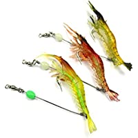 Soft Shrimp Fishing Lures with Hook Mixed Color Spinner Crank-Bait Lure Sea Fishing Bait Set CrankBaits for Bream Bass Flathead Whiting Snapper
