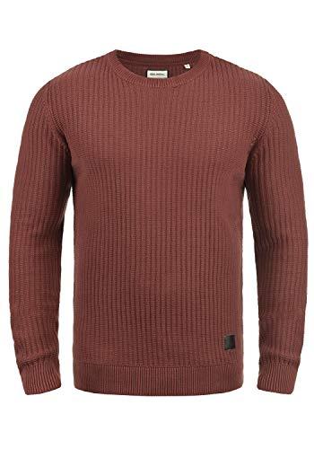 SHINE Original Mabu Herren Winter Pullover Strickpullover Grobstrick Pullover mit Rundhalsausschnitt, Größe:XL, Farbe:Light Bordeaux