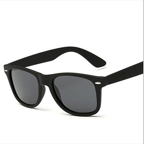 Damen Sport Stil Polarisierte Sonnenbrille Fahrer Gläser Mit Unzerbrechlichen Rahmen Shatterproof Anti-Kratzer für Frauen Radfahren Laufen Angeln Fahren Wandern Golf ( Color : Black )