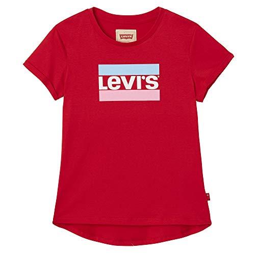 Levi's Kids Mädchen Nn10627 37 Short Sleeve Tee T-Shirt, Rot (Dark Red, 8 Jahre (Herstellergröße: 8Y) -