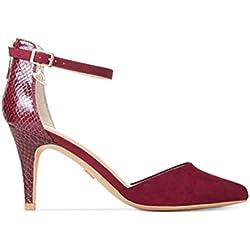 Thalia Sodi Frauen Palomaaf Pumps rund Fashion Stiefel Lila Groesse 8.5 US /39.5 EU