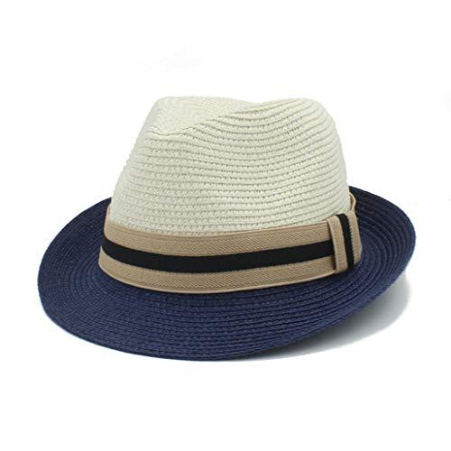 Donad Klassischer Fedora Sommer Strohhut für Frauen Männer Elegante Panama Gentleman Hüte