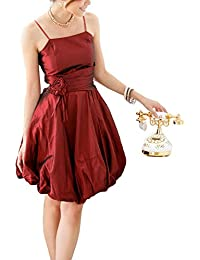 VIP Dress Ballonkleid Cocktailkleid / Jugendweihekleid kurz / aus Satin Rot