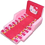 Shanti Textile Baby Sofa Cum Bed in A Beautiful Kitty Design (Pink, 0-6 Years)