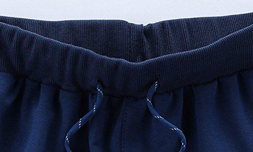 Uomo Pantaloni da Jogging sportivi Casual Pantaloni in esecuzione pantaloni piccoli piedi Blu marino