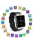 Reloj Inteligente, [Regalo de Reyes] HAMSWAN Smartwatch Bluetooth para Andriod con Cámara Facebook Whatsapp Twitter Cronómetro Pódometro...