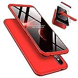 Xiaomi Redmi Note 6 Pro Hülle + Panzerglas, LaiXin 360 Grad Handyhülle Ultra Dünn PC Plastik Anti-Kratzen Schutzhülle Schutz