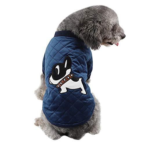 Tonsee Hundemantel Winter Warme Mode Pullover Weich Bequem Katen Nette Gedruckt Sweatshirt Outdoor Rundhals Dicke Mantel Jacke Kleidung für Welpen Kleine und Mittlere Haustiere (S, ()