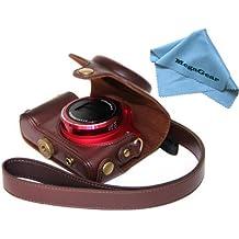 MegaGear Ever Ready–Custodia protettiva per fotocamera Canon SX170, colore: marrone scuro
