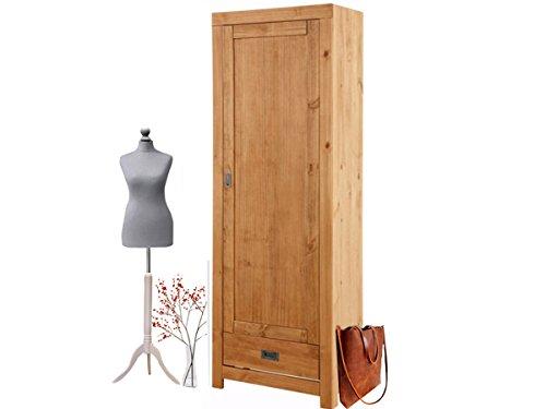 Loft24 Cosmo 1-Türig Kleiderschrank Garderobenschrank Dielenschrank mit Kleiderstange 180 cm Kiefer...
