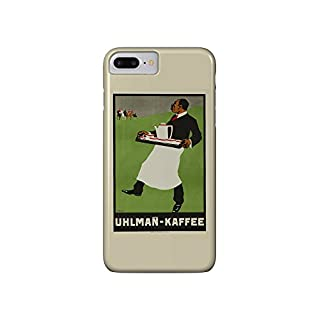 Uhlman - Kaffee Vintage Poster (artist: Waidenschlager) c. 1905 (iPhone 7 Plus Cell Phone Case, Slim Barely There)