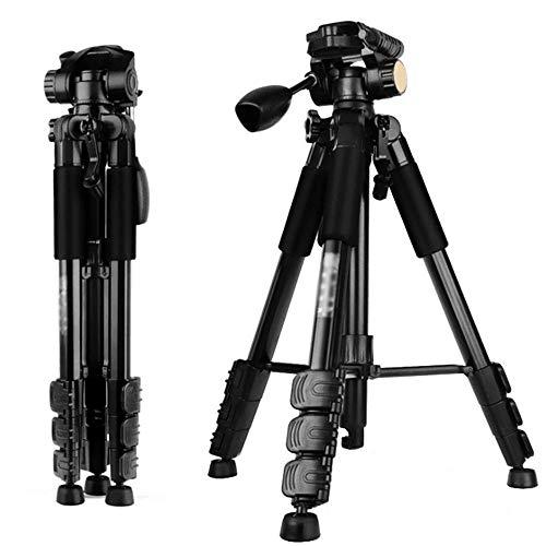 LMM Leichtes Outdoor-Kamerastativ mit horizontalem Schwenk- / Neigungswinkel von 360 Grad, Unterstützung für Inversionsaufnahmen in der Mittelachse für Aufnahmen aus niedrigen Winkeln