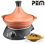 Tajine électrique en céramique - 300W - cuisine traditionnelle