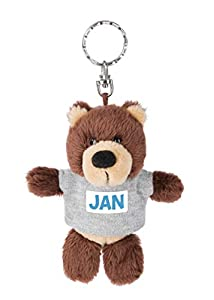 NICI 44676 Jan - Llavero con Camiseta (10 cm), diseño de Oso, Color marrón