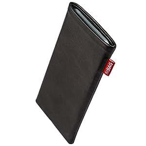 fitBAG Beat Schwarz Handytasche Tasche aus Echtleder Nappa mit Microfaserinnenfutter für Motorola moto g