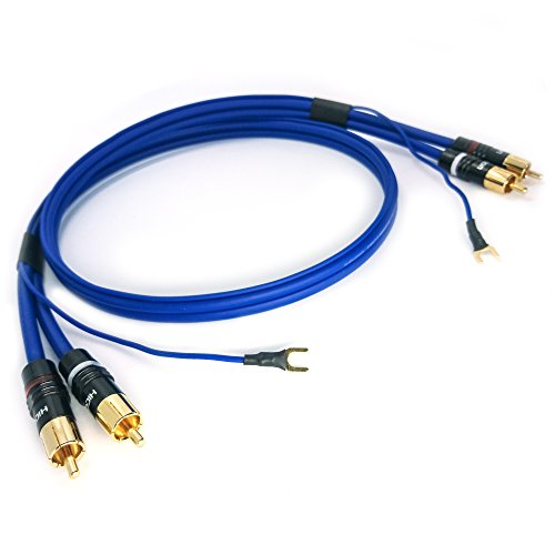 'RCA fono NF/estivo Cable 2X 0,35mm²Sinus Control messa a terra placcato oro | SC K–81–0X XX 1,5m blau