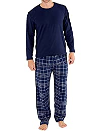 homme HARVEY JAMES Cadeau Paquet Pyjama Polaire Haut à carreaux flanelle pantalon