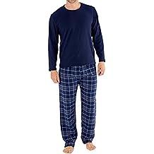 Harvey James Paquete de regalo de pijama con jersey polar y pantalones de franela a cuadros