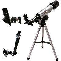 Amazingshop Land & Sky Telescope - Optical Glass & Metal Tube Refractor Telescope (90X Power) With TriPod & 2 Eyepieces