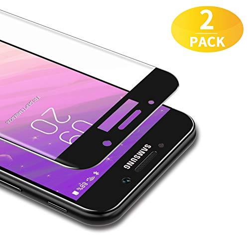 BANNIO [2 Stück Panzerglas für Samsung Galaxy A5 2017,3D Full Sreen Panzerglasfolie Schutzfolie für Samsung Galaxy A5 2017,9H Härte,Leicht Anzubringen,Vollständige Abdeckung,Schwarz