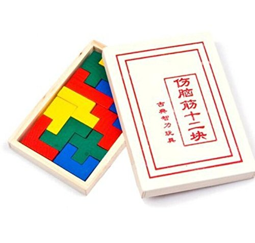 tykusm A Set aus 12Puzzle Brain Teaser Kids Learning Toys (bunt)