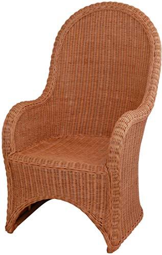 Rattan-Sessel Cobra mit hoher Rückenlehne/Korbsessel aus echtem Rattan (Terracotta)