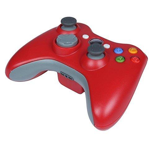 Stoga STB02 Nuevo Mando a Distancia Inalámbrico Del Teclado Microsoft Xbox 360 PC Windows 7 XP Whit Joypad (Rojo)