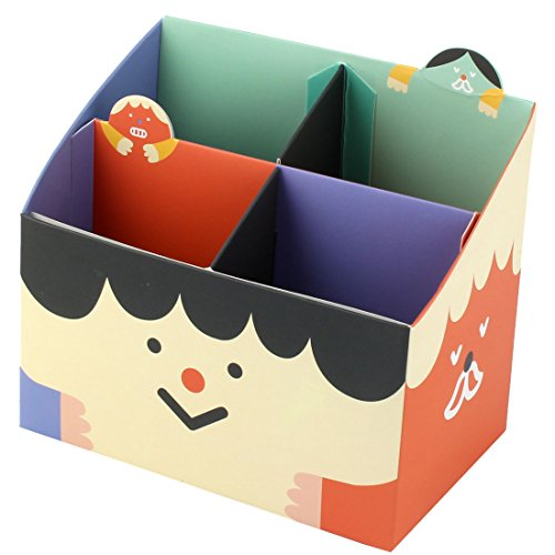 Sourcingmap® Accueil 4 comfêtements Papier Stylo Bricolage Bureau Règle Boîte Rangement Porte-Lunettes