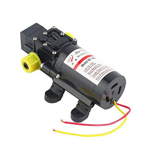KKmoon DC 12 V 60 Watt Motor Hochdruck Wasser Membran Selbstansaugende Pumpe 4.0L / Min Pädagogische Ausrüstung für Wohnwagen / RV / Boot / Marine Boot Rv-ausrüstung