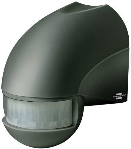 Brennenstuhl Bewegungsmelder Infrarot / Bewegungssensor für Außen und Innen - IP44 (180° Erfassungswinkel und 12m Reichweite) Farbe: anthrazit