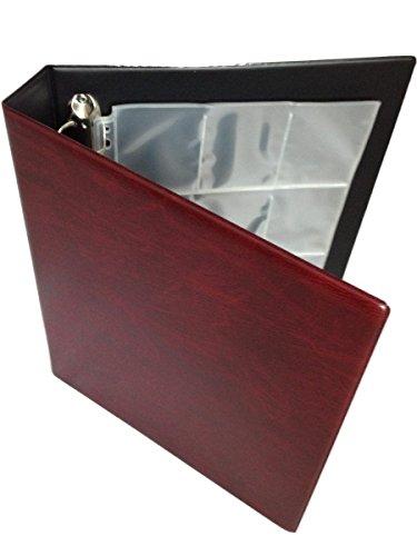 trading-card-album-de-almacenamiento-carpeta-de-anillas-red-20-paginas