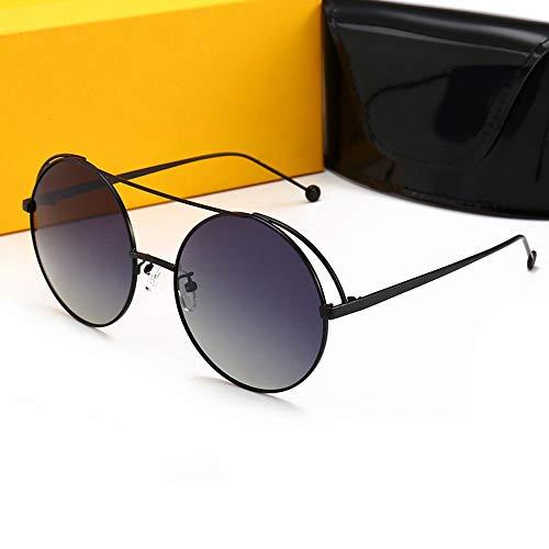 Honneury Damenmode Street Snap UV-Schutz Sonnenbrillen, polarisierte Sonnenbrillen (Farbe : Black Frame/Grey)