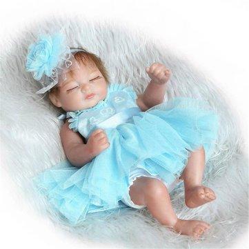 Generic 11inch Handmade Reborn Baby Doll Silicone Lifelike Play House Toy Realistic Newborn Toy