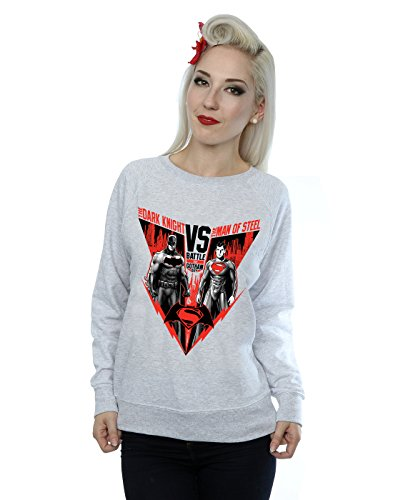 DC Comics Femme Batman v Superman Battle Sweat-Shirt Sport Gris