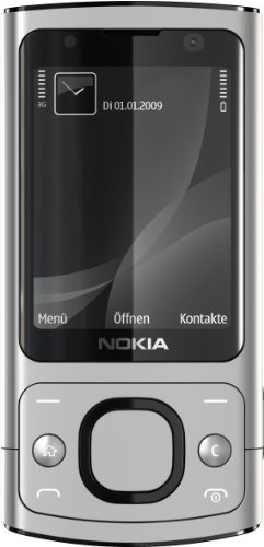 Nokia 6700 Slide Handy (UMTS, GPRS, Bluetooth, Kamera mit 5 MP, Musik-Player) raw Aluminium -